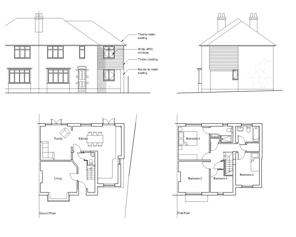 C3 2010 april for Floor plans for a semi detached house extension